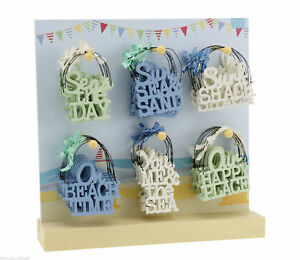 SMALL Beach Theme Seaside Signs Plaque Gift Tag Wooden MINI Nautical SURF SHACK