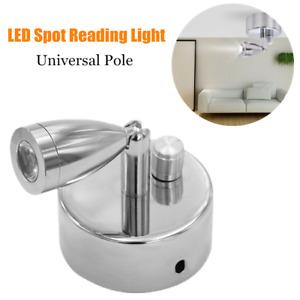 12V Dimming LED Night Reading Light Touch Wall Lamp For Van Trailer RV Caravan