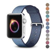 Nylon Sport Loop Bracelet Watch Straps For Apple Watch Band Series 3 2 1 38/42mm