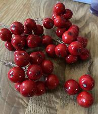 43 Vintage  Millinery Cherries