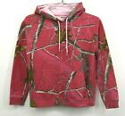 Realtree Womens Pink Kangaroo Pouch Hoodie Hooded Sweater Camo Cotton Reg Small