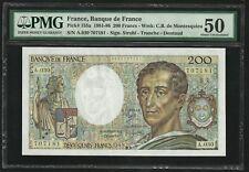 France : 200 Francs Montesquieu 1985 ; PMG : About UNC 50