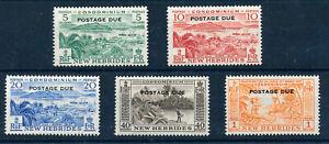 NEW HEBRIDES 1957 POSTAGE DUES SG D16/D20 MNH