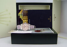 ROLEX - 18kt White Gold/Stainless DATEJUST Silver Floral Dial 16234 SANT BLANC