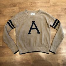 """Abercrombie & Fitch Knit Sweater Jumper Brown Large 48"""" Chest"""