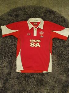 Wales Rugby Union Shirt Home 2008 2009 Red WRU Jersey Top Mens Size medium