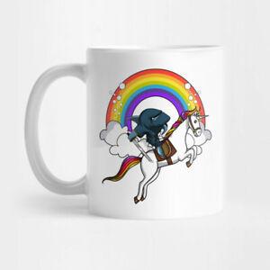 Ninja Shark Riding Unicorn For Battle gift For Friend White Coffee Mug Tea Cup