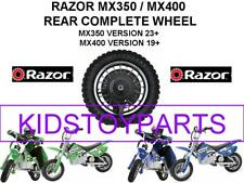 NEW! Razor DIRT ROCKET BIKE MX350 V23+ & MX400 V19+ Rear Wheels Assembly