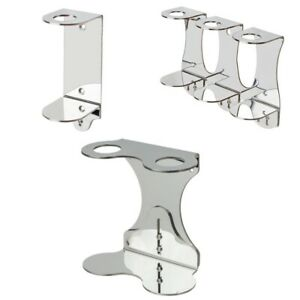 Wall Mounted Chrome Plated Stainless Steel Soap Adjustable Bottle Holder