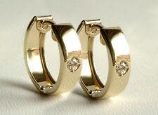 ECHT GOLD  *** Kleine Zirkonia Creolen Ohrringe 12 mm
