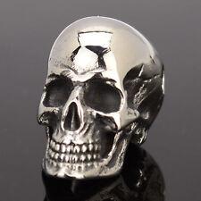 Totenkopf Skull Anhänger Edelstahl Gothic Schmuck Farbe silber Biker schmuck