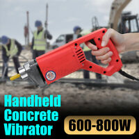 600-800W Electric Concrete Vibrator Hand Held Cement Finishing Bubble  @Q i