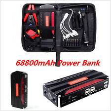 68800mAh 12V Portable Car Jump Starter Pack Battery Charger Emergency Power Bank