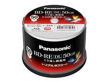 New 50 Panasonic Blu-Ray Bd-Re Dl 50GB 2x Velocidad Regrabable Imprimible Discos
