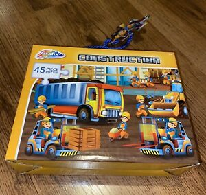 Kids Construction 45 Piece Jigsaw Boys /girls Children's