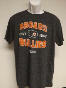 New Philadelphia Flyers Hockey Mens Size L Large Gray Shirt