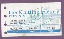 John Cale (Velvet Underground) Ticket Stub 1997 Knitting Factory (original)
