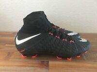 Nike JR Hypervenom Phantom 3 DF FG Soccer Cleats Black/Silver 882087-001 Sz 4.5Y