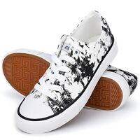 Comfortable Women's Shoes Canvas Sneakers Low Cut Lace Up Sneaker Shoes