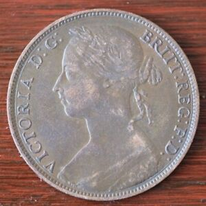 1888 Victorian One Penny Coin