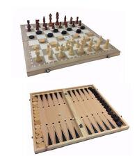 Nardy 3 in 1 44 x 44 cm Backgammonspiel Schachspiel Brettspiele aus Holz Spiel