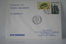 LETTRE AIR FRANCE PARIS/BAGDAD BOEING 727 07/04/1972 PREMIER VOL