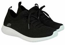 Skechers Ladies' Ultra Flex Slip-On Walking Sneakers, Black Knit Mesh