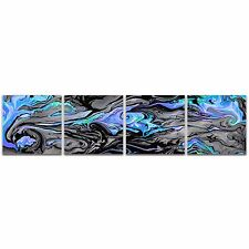 Lava Blue | Glossy Acrylic Abstract Art Cool Color Swirl Contemporary Wall Decor