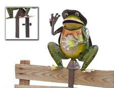 Zaunhocker Frosch mit KLEMME Metall 22cm x 22cm