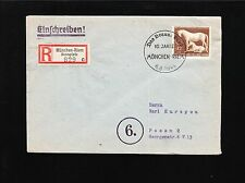 Germany Day of Stamps Special Cancel Leipzig 1943 Pair Post Congress 6p Cover 2z
