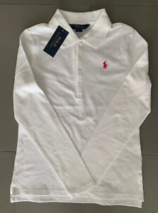 NWT Ralph Lauren Girls Red Long Sleeve Polo Size L (12-14)