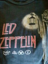 Vintage led zeppelin t shirt official zoso sz Xl.Black iconic band A8