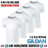 White T Shirt Gildan Wholesale Price Plain Blank Pack 3 5 10 S M L XL XXL XXXL