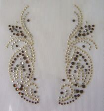 TRIM / CUFF OR COLLAR RHINESTONE IRON ON APPLIQUE / HOT FIX TRANSFER