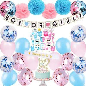 Gender Reveal Party Supplies Kit Baby Shower Boy or Girl Decor Fiesta Bebe 57pcs