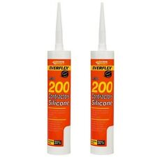 Everbuild Low Modulus LMA Silicone UPVC Sealant - White - 2 x 300ml C3 Tubes