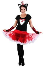 Dr. Seuss Cat In The Hat Tutu Dress Costume Adult LARGE/XL