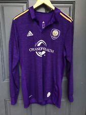 Authentic Adidas Orlando City SC LS MLS Long Sleeve Adizero Soccer Jersey  L