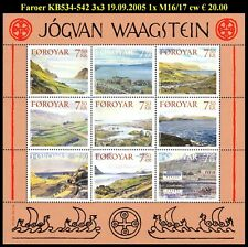 FAROER KB534-542 3x3Landschapsschilderijen Jógvan Waagstein