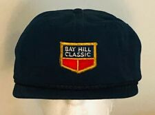 Vintage Bay Hill Classic Golf Hat Cap Leather Strap Pga Tour Blue Embroidered