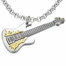 Music Pendants - Guitar, Marijuana/Weed, Eight, Double 8  Stainless Steel - USA