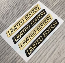 Limited Edition GOLD domed emblem decal stickers