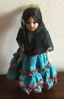 Beautiful Vintage Hard Plastic Spanish Doll