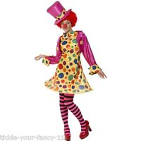 Women Clown Lady Costume Party Fancy Dress Circus Carnival Funny Festival Outfit