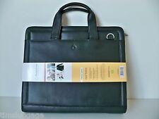 FranklinCovey Black Full Grain Leather Zipper Portfolio 3-Ring Binder Planner