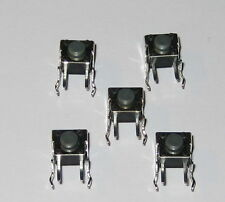 5 X Momentary Pushbutton Micro Switches - Right Angle PC Board Mount - Motorola