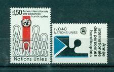 """Nations Unies  Géneve 1981 - Michel n. 97/98  -  """"Année Internationale des perso"""