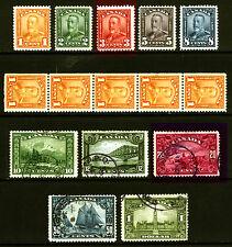Canada #149-#159 1c-$1 1928-29  King George V Bluenose Mint & Used Set 11 items