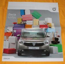 Dacia Lodgy 2012 Vorab Prospekt  Preview Brochure Depliant Catalogue Renault
