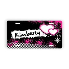 """Hearts Personalized Novelty License Plate 6"""" x 12"""" Personalized Custom"""